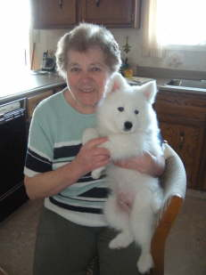 Oma with her furry grandchild ;-)